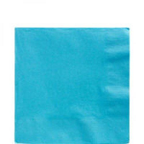 (Amscan 33cm 2-lagige Servietten, 33cm, Caribbean Blue (blau))
