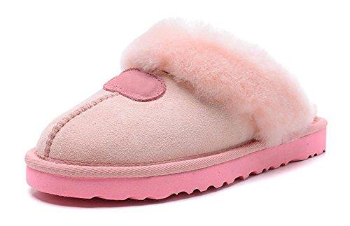 Pantoufles de laine thermique femmes intérieur maison 35 36 37 38 39 40