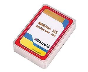Betzold - 48 cartas además iii número 100 de espacio, juego de cartas, números de juego, en un plástico resistente y robusto