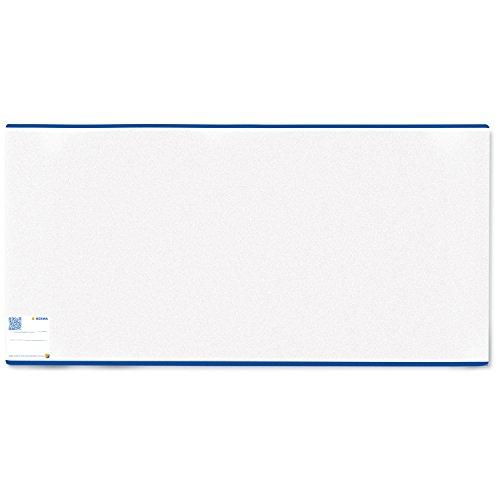 Herma 7265 Buchumschlag Classic, Größe 265 x 540 mm, Kunststoff transparent, blauer Rand, normal lang, 1 Buchschoner für Schulbücher