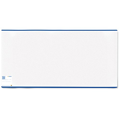 Preisvergleich Produktbild Herma 7300 Schulbuch Buchumschlag Classic, 300 x 540 mm, Kunststoff transparent, blauer Rand, normal lang, 1 Buchschoner