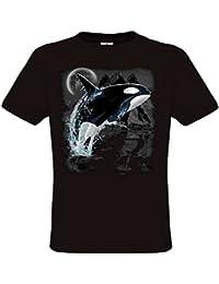 Ethno Designs - T-Shirt - Imprimé animal - Col Rond - Manches Courtes - Homme
