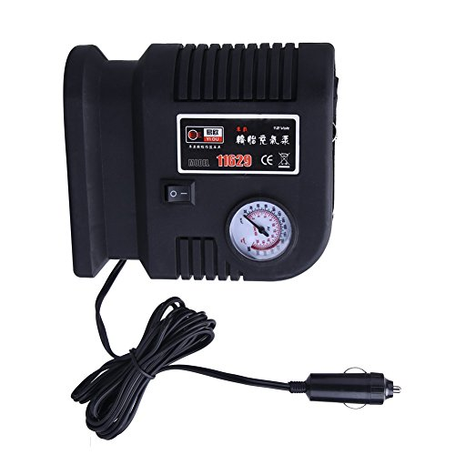 Yiou Demiawaking Tragbare Luftkompressor-Pumpe, 300 PSI Fahrräder, Motorrad, Auto, SUV, Reifen, Kompressor 12 V Volt + 3 Adapter -
