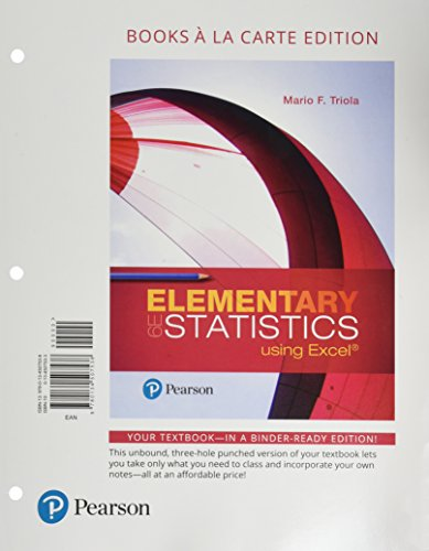 Elementary Statistics Using Excel, Books a la Carte Edition Plus New Mystatlab with Pearson Etext -- Access Card Package