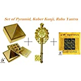 """SoilMade Set Of Pyramid, Kuber Kunji And Rahu Yantra For Happy And Peacefull Life100% Original And Very Rare Collection By""""Make In India - SoilMade- Pick Use"""""""