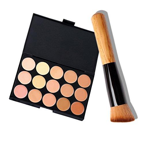 Hrph 15 Couleur Mode féminine maquillage professionnel Palette Correcteur Cosmetic Contour Maquillage + Concealer Brush