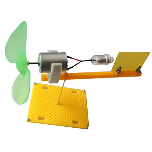 Generator-turbine Wind (MagiDeal Mini Elektro Wind Turbine Motor Generator Generatoren LED Klinge Lehrmittel für Kinder)