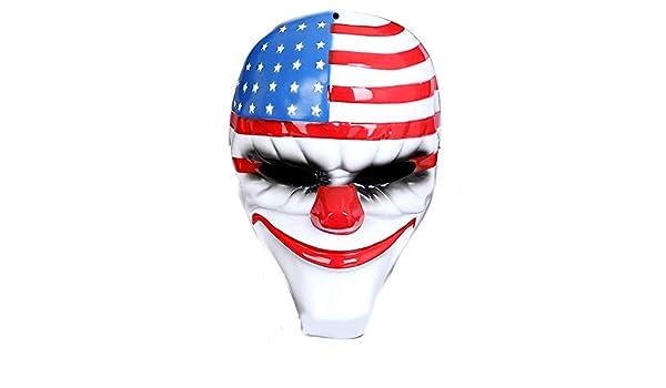 LEGISDREAM Maschera da Pagliaccio Assassino con Copricapo Bandiera Americana Accessorio Idea Travestimento