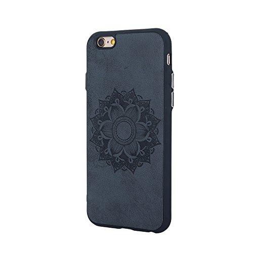 JIALUN-étui pour téléphone Boîtier en relief pour téléphone portable pour iPhone 6 et 6s Plus ( Color : Black ) Black