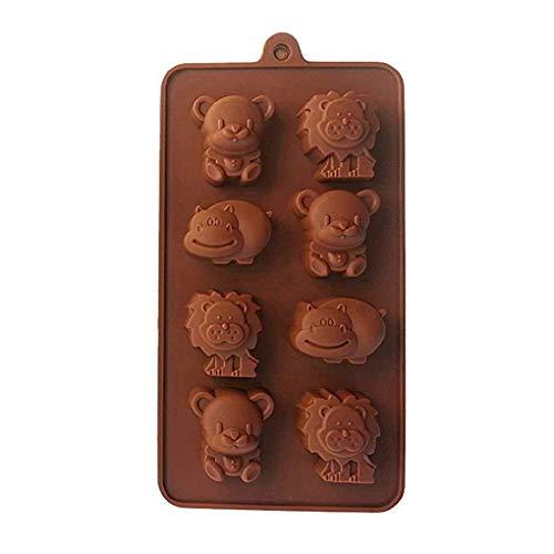 8 Grid 3D Hippo Bär Löwe DIY Backform Kleintiergelee Schokoladenseife DIY Geschirr Backformen Form Nützlich und PraktischCarry Stone