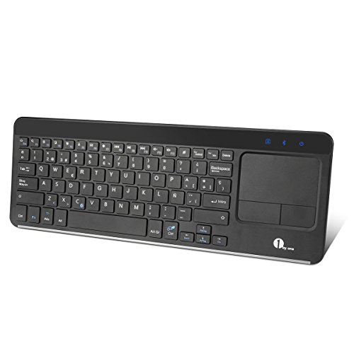 1byone Teclado Inalámbrico con Multi-touchpad (Bluetooth, Windows/Linux/Android OS)