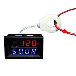 AILI Battery Monitor 5-120V 200A Voltage Current Capacity Satate of Charge with Sensor