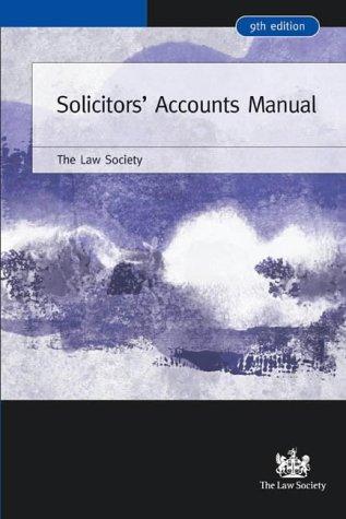 Solicitors' Accounts Manual (Law Society)