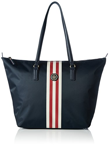 tommy-hilfiger-poppy-tote-nylon-sacs-portes-main-femme-multicolore-midnight-stripe-901-901-32x14x32-