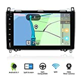 YUNTX Android 8.1 Autoradio Kompatibel mit Mercedes Benz Viano/Sprinter/W906-9 Zoll GPS mit navi Bluetooth - 2G32G / Dab+ / Lenkradsteuerung/USB/Carplay/WiFi/4G/MirrorLink (mit rückfahrkamera)