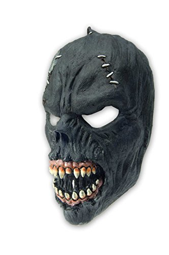 schwarze Monster Latex Maske Halloween Zombie Tod Horrormaske für Herren Werwolf (Masken Monster)