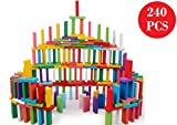 Blossom Pack of 2 (120 PCs Each Pack) Colorful Wooden Domino Set