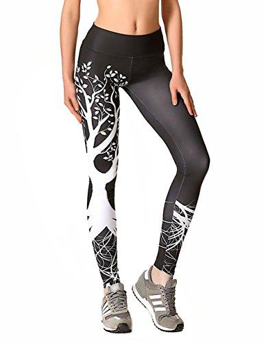 Mujer Pantalones Deporte Leggings Adelgazante Gym con Malla para...