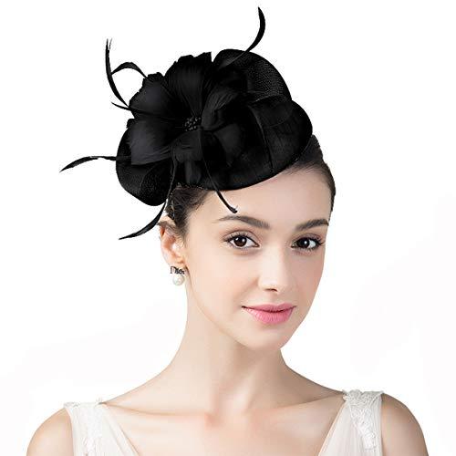 Nosterappou Chapeau élégant pour Femmes à la Mode, Style rétro, Chapeau de Banquet, Accessoires pour Cheveux Polyvalents