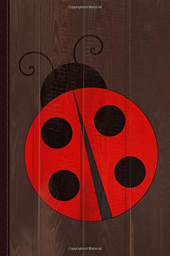 Cute Ladybug Journal Notebook: Blank Lined Ruled For Writing 6x9 120 Pages
