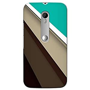 DASM United Moto G3 Premium Back Case Cover - Brown Abstract
