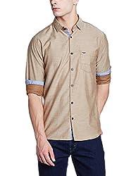 Park Avenue Mens Casual Shirt (8907663014226_PCSA01372-F6_42_Dark Fawn)