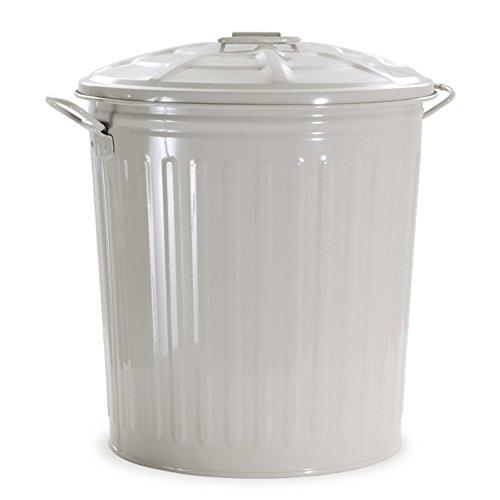 Verdelook bidone per rifiuti con coperchio, beige, capienza 35 litri, cestino pattumiera immondizia spazzatura