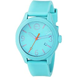 ESQ by Movado Women's 42mm Turquoise Silicone Band & Case Quartz Analog Watch 07301439