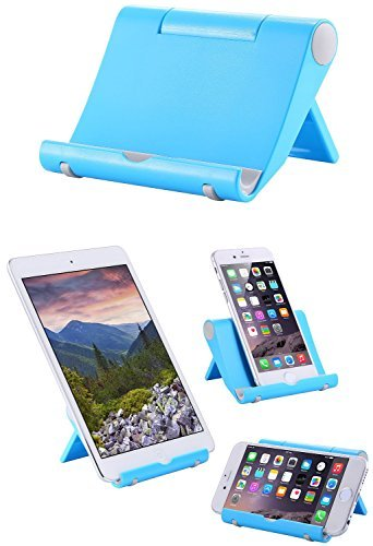 iPad Stand, multi-angolo Mini portatile durevole Cradle Stand per Apple iPad Air/Mini, iPad, Samsung Galaxy/Tab, Google Nexus, HTC, LG, Nokia Lumia, OnePlus e più smart phone Stand