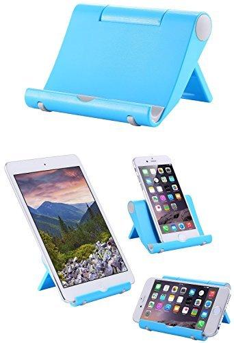 iPad Stand, multi-angolo Mini portatile durevole Cradle Stand per Apple iPad Air/Mini, iPad, Samsung Galaxy/Tab, Google Nexus, HTC, LG, Nokia Lumia, OnePlus e più smart phone