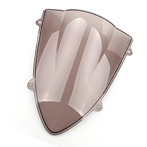 Motorrad Windschutzscheibe Shield Wind Screen Windschutzscheibe für Kawasaki Ninja 250 250R EX250 2008-2012 (Smoke) (Kawasaki 09 Ninja 250r)