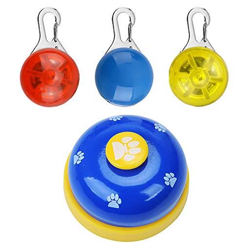 Homeet 3PCS Luz Perro LED Collar Clip-On Pet Collar