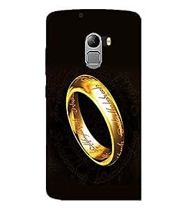 PrintDhaba Ring D-2245 Back Case Cover for LENOVO VIBE K4 NOTE (Multi-Coloured)
