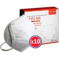 CRAZYCHIC - Mascarilla FFP2 Certificada CE EN149 - Mascarilla de Protección Respiratoria - Protectora Respirador Antipolvo Homologada - Alta filtración - Entrega Rápida - Paquete de 10 Piezas