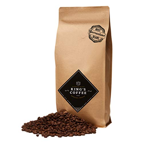 King's Coffee – Spezielle Espresso Röstung – Feinster Arabica Robusta Blend – Kaffee-Bohnen...