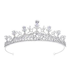 Sepbridals Zirkonia Prinzessin Hochzeit Tiara Crown Diadem Frauen Haarschmuck Schmuck CH10288