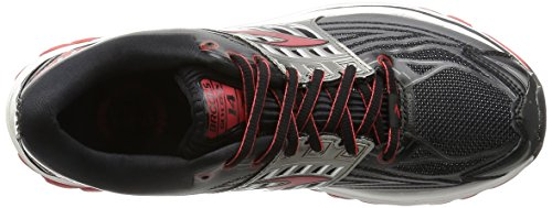 Brooks Glycerin 14, Men's Competition Running Shoes, Black (Black/high Risk Red/anthracite), 13 UK (48.5 EU)