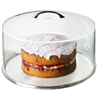 Metal Handle Cake Dome 30cm - Set of 6 | Plastic Cake Dome, Cake Cover, Food Cover, Plate Cover