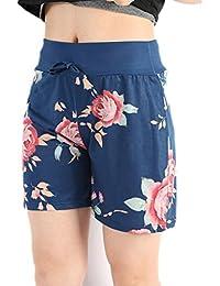 bae5f8f849d62d Bright_99 Shorts Damen Kurze Hosen Sommer Sport Hot Pants Sporthose  Trainingshose Den Strand Bermuda Lässige Hose