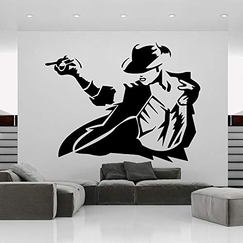 zhuziji Creative Jackson Home Decor Modern Acrylic Decoration PVC Wall Decals Home Decoration Wa 43cm X 55cm