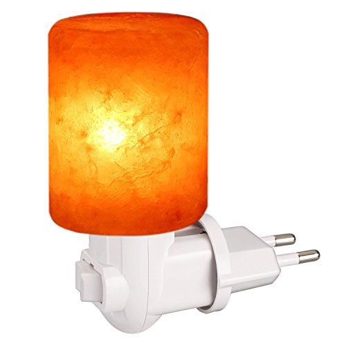 Lavf lampada a sale himalaya, lampada in cristallo di sale, mini lampada da parete, purificazione dell' aria, terapeutiche naturali, lampada di corrid, cylindre