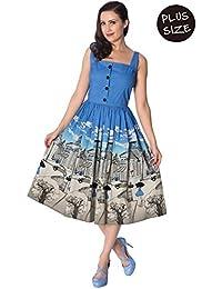 7a390595b65 Banned Plus Size Paris Button Thru Vintage Retro Dress