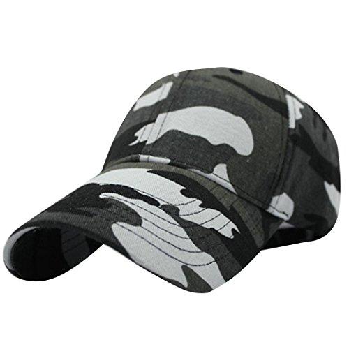 Minetom Unisexe Été Militaire Casquette De Baseball Taille Unique Réglable  Camouflage Hip Hop Twill Cap Flat b7392ec516b