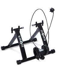 Klarfit Tourek rodillo para bicicleta (26/28 pulgadas, 100 kg carga max, resistencia magnética regulable 7 niveles, control manillar, acero) - negro