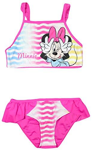 Disney Minnie Mouse Mädchen Schwimmen Bikini (4/5 Jahre (104/110 cm), Rosa) (Disney Junior Kostüme)