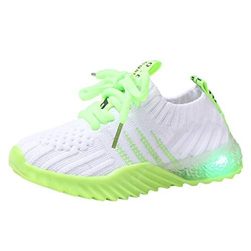 DIASTR Baby Mädchen Sportschuhe Leder Krabbelschuhe Junge Kinder Baby Jungen Mädchen Schuhe Candy Farbe Led Luminous Sport Run Sneakers Schuhe Anzug Kinder Jungen (Sport Auto Ausstecher)