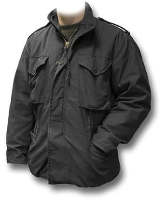 Alpha Industries Genuine M65 M-65 Combat Field Jacket, black, x-small