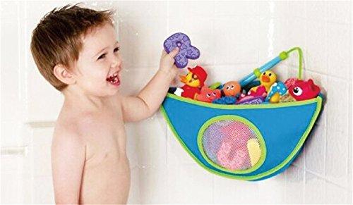es großes Bad Spielzeug Netz für Badewanne Spielzeugnetz & Badezimmer Lagerung mit 4 Ultra Strong Hooked Saugnäpfe Mesh Bad Spielzeug Organizer#3 ()