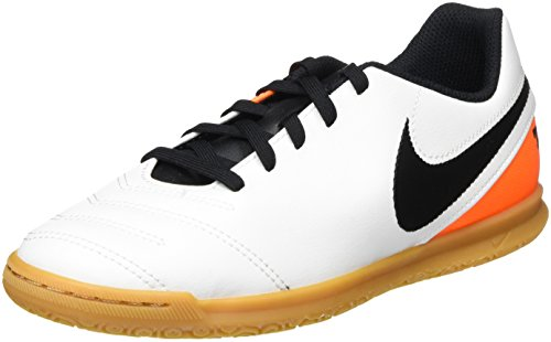 Nike Jr Tiempo Rio Iii Ic, Baskets Basses Garçon Blanc (White/Black Total Orange)