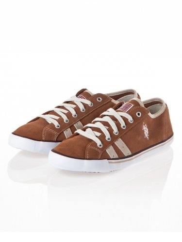 us-polo-association-mens-lace-up-flats-brown-brown-brown-size-8